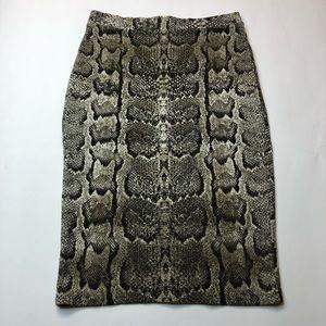H&M Snakeskin Print Pencil Skirt